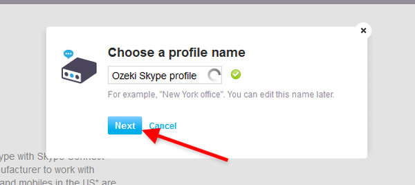 specify a profile name